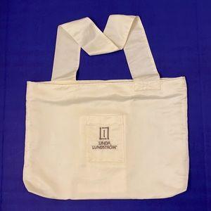 Linda Lundstrom Winter White Zippered Tote Bag